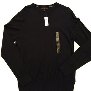 NWT Banana Republic Navy V neck Luxe Sweater Large